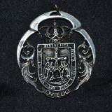 PANDANTIV - ARGINT 925 - Mare - Oviedo - Benemerita - Invicta Heroica - 16g. !