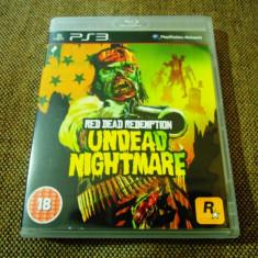 Joc Red Dead Redemption Undead Nightmare, PS3, original, alte sute de jocuri! - Jocuri PS3 Rockstar Games, Shooting, 18+, Single player