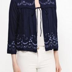 Cardigan brodat din bumbac - Vero Moda - art. 10153757 bleumarin - Sacou dama Vero Moda, Marime: XS, S, Culoare: Albastru