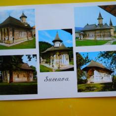 HOPCT 17425 MANASTIRI DIN ... -JUD SUCEAVA -NECIRCULATA - Carte Postala Bucovina dupa 1918, Printata