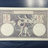 5 lei 1929 perfect UNC !!!!!!!!!, An: 1929