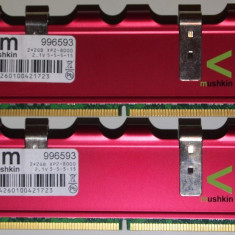 Mushkin 4 GB DDr2 2*2GB 1000 Mhz Mushkin Enhanced Redline 4096MB PC2-8000 996593 - Memorie RAM Mushkin, 1066 mhz, Dual channel