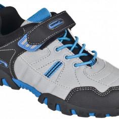 Pantofi baieti Trespass Goalie Cobalt - Adidasi copii Trespass, Marime: 28, 29, 32, 33, Culoare: Gri, Piele sintetica