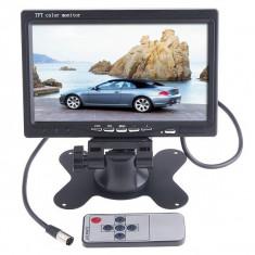 Monitorul auto masina LCD 7'' TFT 2 intrari dvd gps camera mers inapoi