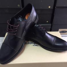 Pantofi PIELE NATURALA negru marimi 42-44 - Pantofi barbati, Marime: 43
