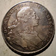 E.185 GERMANIA BAVARIA MAXIMILIAN III JOSEF THALER 1755 ARGINT 27, 95g - Moneda Medievala, Europa