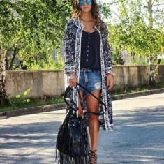 Jacheta dama Zara, Bumbac - Jacheta Zara, brodata, noua