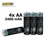 4x AA R6 Imedion 2400mAh Baterii Reincarcabile NK054