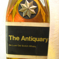 whisky the antiquary, de kluxe old scotch whisky cl.75 gr.43,3 ani 60
