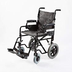 Carucior pliabil pentru transport pacienti Ortomobil 04008B - Scaun cu rotile