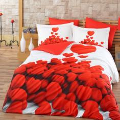 Lenjerii de pat Poplin 3D Romantic - Lenjerie de pat