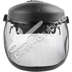 Viziera protectie pentru motocoasa plasa metalica (neagra)