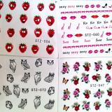 Stickere Abtibilduri ( SET 10 ) Tatuaje pe baza de apa unghii naturale/false - Unghii modele