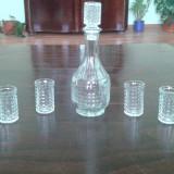 Set sticla si pahare pentru tarie