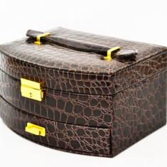 Cutie bijuterii Brown Luxury - Produs Nou - Calitate Superioara