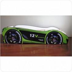 Pat copii masina Champion - Pat tematic pentru copii Altele, Altele, Alte dimensiuni, Verde