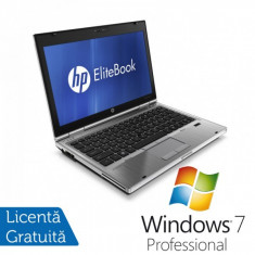 Laptop Hp EliteBook 2560p, Intel Core i3-2310M 2.1Ghz, 4Gb DDR3, 250Gb SATA, DVD-RW, 12, 5 inch LED-backlit HD, DisplayPort + Windows 7 Professional
