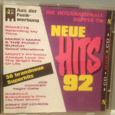NEW HITS '92 - Various Artists - 2cd set/stare :FB/Original (1992/BMG/GERMANY) - Muzica Dance ariola