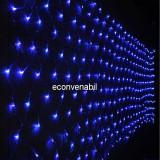 Plasa Luminoasa Craciun 160 LEDuri Albastre 6x0.5m 4Randuri 5486 - Instalatie electrica Craciun