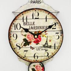Ceas de perete cu pendula - Retro Paris - Produs Nou