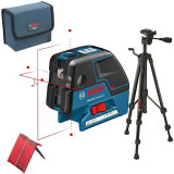 Nivela optica - BOSCH GCL 25 + BS 150 Professional Nivela laser cu linii/puncte + Stativ...