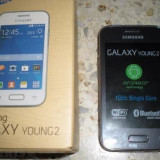 Vand Telefon Samsung Galaxy Young 2 DUAL SIM Accesorii originale, Negru, 4GB, Neblocat, Fara procesor