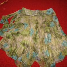 Fusta Zara Basic superba, noua Mar L, Marime: L, Culoare: Multicolor, Asimetrica, Poliester