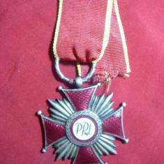Crucea de Merit PRL Polonia, cl.II, argintat, panglica noua - Ordin