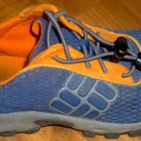 Adidasi copii COLUMBIA 29 1/3 talpic 18 cm trekking transport inclus, Marime: 29.5, Culoare: Albastru, Unisex, Textil
