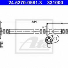 Furtun frana HONDA CR-V Mk II 2.0 - ATE 24.5270-0581.3
