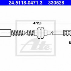 Furtun frana REINZ PEUGEOT 806 2.0 Turbo - ATE 24.5118-0471.3