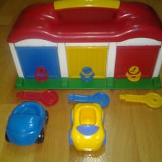 Garaj cu cheie si masini incluse, 28 x 13 x 13 cm - Masinuta de jucarie Altele