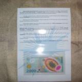 Bancnota de 2000 lei cu eclipsa