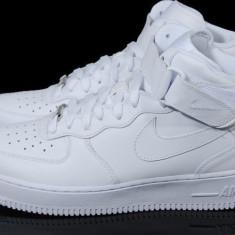 Ghete Nike Dama Air Force 1 -alb mono-model UNISEX - Adidasi dama Nike, Marime: 36, 37, 38, 39, 40, 41, 42, 43, 44, Culoare: Din imagine, Piele sintetica