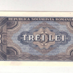 BANCNOTA ROMANIA-UNC-3 LEI 1966