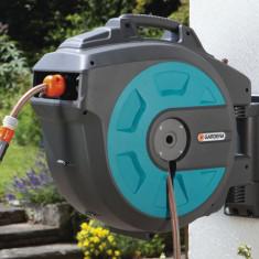 Gardena Dispozitiv de perete Comfort 08024-20 pentru furtun 35 roll-up automatic - Stropitoare gradina