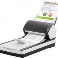 Scanner Fujitsu FI-7240, Flatbed & ADF, CCD, Negru, Alb