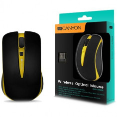 Mouse Canyon CNS-CMSW6Y, optic, USB, 800-1600dpi, galben