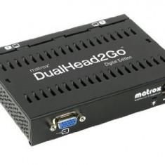 Placa video Matrox Adaptor grafic DualHead2Go, DualDigitalEdition, HD15 input, 2xDVI outputUSB - Placa video PC