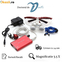 Lupe dentare stomatologie magnificatie 3.5x LED