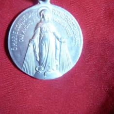 Medalion Sfanta Maria, aluminiu, d= 3 cm