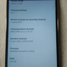 Lenovo Vibe P1 RAM 3GB Dual Sim 4G Auriu - Telefon mobil Lenovo, Neblocat