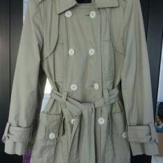 Palton Zara - Palton dama Zara, Marime: S, Culoare: Crem