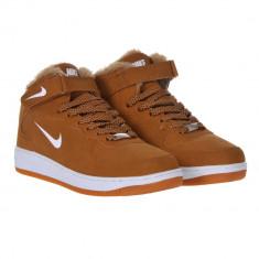 Bocanci NIKE - inblaniti - Bocanci barbati Nike, Marime: 40, 41, 42, 43, 44, Culoare: Maro, Piele sintetica