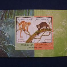 Australia - Fauna maimute colita MNH - Timbre straine, Nestampilat