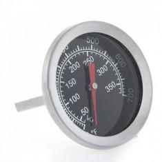 Termometru alimentar pentru cuptor, analogic, de insertie, metalic, pentru gatit