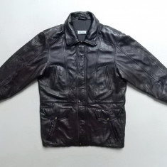 Geaca din piele naturala Molltan Real Leather; marime 50, vezi dim.; impecabil - Geaca barbati, Culoare: Din imagine