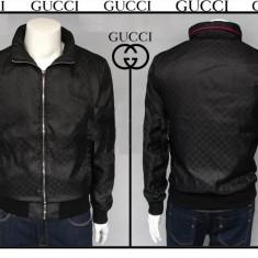 Geaca/jacheta slim fit casual Gucci model OCTOMBRIE Made in Italy stoc limitat - Geaca barbati Gucci, Marime: XL, Culoare: Negru, Poliester