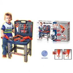Banc de scule copii cu bormasina electrica de jucarie - Scule si unelte
