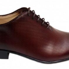 Pantofi barbati lux - eleganti din piele naturala maro - cod 026M, Marime: 38, 39, 40, 41, 42, 43, 44, Culoare: Negru